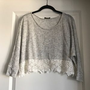 Crop top with lace S